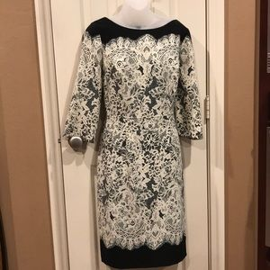 Adriana Papell dress, lace look, sz 12